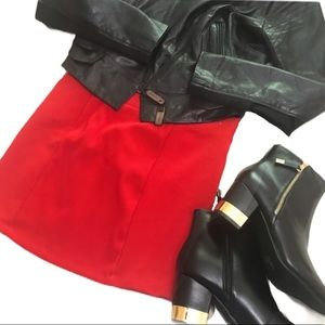 4/25$ | Red Bodycon Ribbed Miniskirt